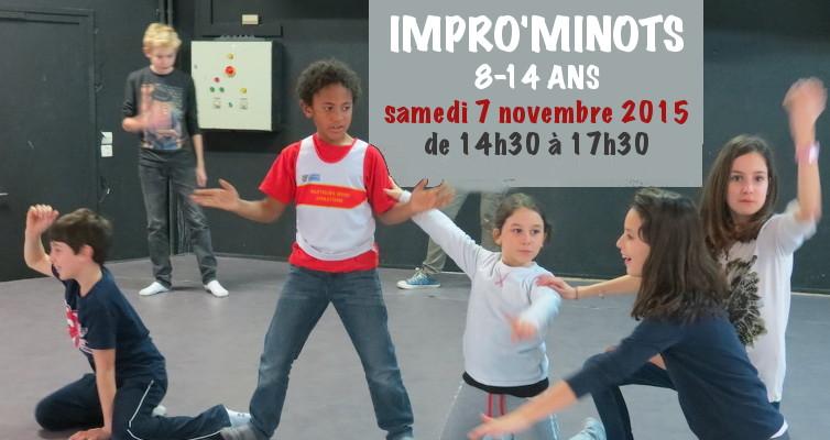 Ateliers impro minots enfants ados 8-14 ans
