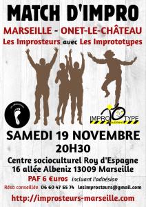 Ping-pong : match d'impro avec les Improtoypes, novembre 2016